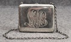 antique sterling silver purse 19th c