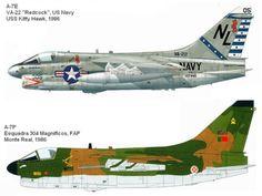 AVIÕES MILITARES: Ling-Temco-Vought A-7 Corsair II