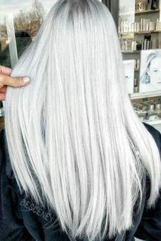 Silver Hair Trend: 51 Cool Grey Hair Colors & Tips for Going Gray - Trends Frisuren Silver Blonde Hair, Platinum Blonde Hair, Silver Platinum Hair, Grey Blonde, Short Hair Wigs, Short Hair Styles, Grey Wig, Gray Hair, Ash Hair