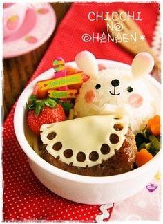 Bunny bento From Japanese website ~ www.cookpad.com (^~^)モグモグ