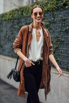dreamy brown velvet jacket