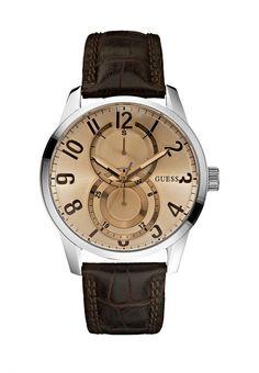 Часы Guess мужские. Цвет: коричневый. Сезон: Весна-лето 2014. С бесплатной доставкой и примеркой на Lamoda. http://j.mp/UUtmRH