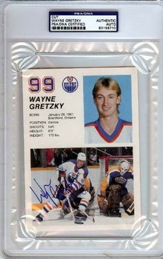 Wayne Gretzky Autographed Jumbo Card PSA/DNA Slabbed #83158710 . $109.00. This a Jumbo card that has been hand signed by Wayne Gretzky. It has been authenticated and slabbed by PSA/DNA.
