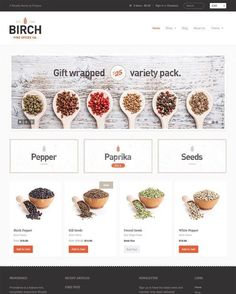 Shopify Dropshipping- Ideas of dropshipping - 5 Stunning Website Themes for Selling Herbs and Spices on Shopify Layout Design, Web Design, Store Design, Blog Design, Graphic Design, Custom Gift Cards, Restaurant Themes, Restaurant Web, Ecommerce Template