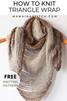 This Shawl Is So Beautiful And Comes With A Free * dieser schal ist so schön und kommt mit einem kostenlosen * ce châle est si beau et est livré avec un Free Knit Shawl Patterns, Knit Wrap Pattern, Beginner Knitting Patterns, Knitting For Beginners, Free Pattern, Scarf Patterns, Beginner Knit Scarf, Easy Knitting Projects, Knitting Ideas