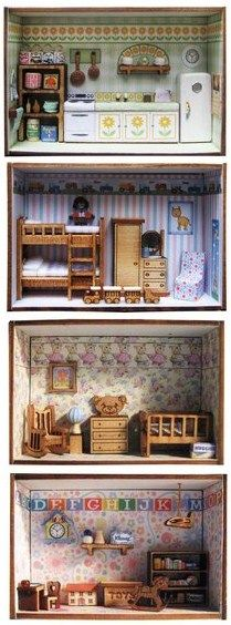 1/144th scale matchbox room boxes