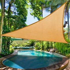 16.5' Triangle Outdoor Sun Shade Sail Canopy Desert Sand