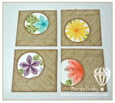 Inch of Creativity: Flower Patch Card Set