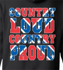 Back View - Country Proud Hoodie Country Wear, Country Life, Country Girls, Redneck Clothes, Southern Pride, Going Crazy, Hoodies, My Style, Cold