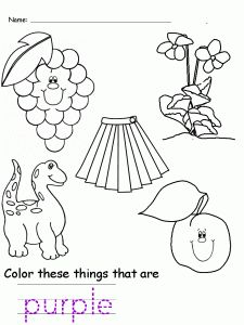 colors purple worksheet worksheets for kids - Color Purple Worksheets For Preschool