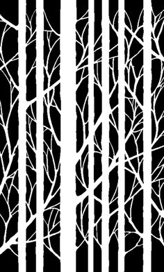 Tree stencil...thinking I could recreate using painter's tape