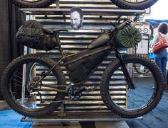Employee bikes on display. Dave Gray's Arrowhead 135 Pugsley Build.