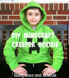 Stacy Sews and Schools: Blog with Friends - The Brr Brigade - DIY Creeper Hoodie