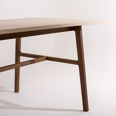 Willox Table by Mast Furniture. Designed and made in Noosa Heads, QLD using a Walnut base and a White Ash top www.mastfurniture.com.au