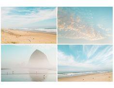 Oregon Coast Photography - Four Fine Art Photographs, Ocean Beach Home Decor, Coastal Wall Decor, Bathroom Decor, Large Wall Art