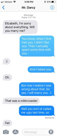 SparkLife » Pride and Prejudice As Told in a Series of Texts