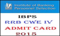 IBPS PO CWE-4 ADMIT CARD 2015 Download from here aspirants need to check all this from here