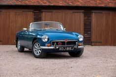 1971 MGB roadster in teal blue with caramel leather interior for
