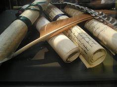scrolls. quills.