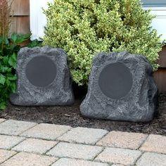 Innovative Technology Innovative Tech Solar-Charging Bluetooth Outdoor Rock Speakers, Set of 2 Home - Bloomingdale's Backyard Patio Designs, Backyard Landscaping, Cool Backyard Ideas, Pool Ideas, Inexpensive Backyard Ideas, Concrete Backyard, Backyard Decorations, Backyard Decks, Outdoor Patios