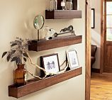 Possible shelves for the hallway - to be filled with bottles (terrariums) and picture frames?