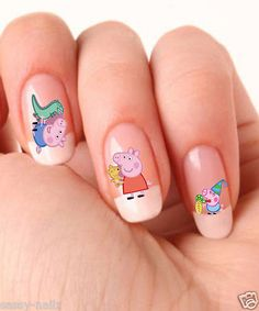 Hey, I found this really awesome Etsy listing at https://www.etsy.com/listing/129998675/peppa-pig-childrens-nail-art-transfer
