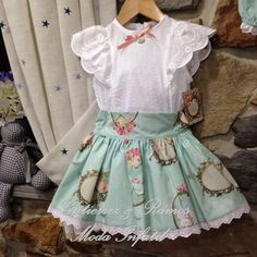 Library Blouse/Tunic Fresh Stitch Patterns Substitute Tie DBlouse eith skirt for babyMatching skirt and shirt Little Girl Dresses, Girls Dresses, Baby Dress Patterns, Frocks For Girls, Cute Skirts, Blouses For Women, Doll Clothes, Kids Outfits, Kids Fashion