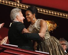 Image detail for -U.S. first lady Michelle Obama embraces 2012 Kennedy Center honoree Dustin Hoffman in Washington