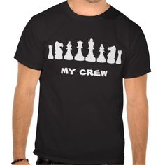 Chess geek chic T-shirt Design - many styles and colours, both men's and lady's / women's (t-shirts, tee, tees, t shirt, tshirt, creative, cool, graphic, style, text, funny, pieces, queen, king, my crew, nerd, dork)