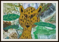MaryMaking: Paper Bag Jaguar Collages