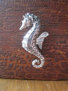 Seahorse drawer knobs / cabinet pulls in Silver metal by DaRosa, $7.00