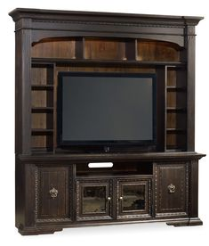 Treviso 2 Piece Entertainment Group in Dark Brown   Hooker Furniture   Home Gallery Stores