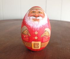 Santa chillin with his hands in his pockets. by WoodenEggArt, $23.00