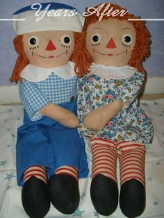 RARE Georgene Novelties Raggedy Ann and Andy Doll with Tag c.1947!