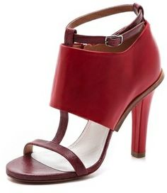 Maison martin margiela Leather T Strap Heels on shopstyle.com