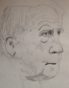 My sketch of poet Robert Frost, drawn during my dialysis treatment this morning Robert Frost, Dialysis, Poet, My Drawings, Sketches, Ink, Drawings, India Ink, Doodles
