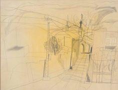 Ben Nicholson  Soller Majorca, April 1956, pencil on paper