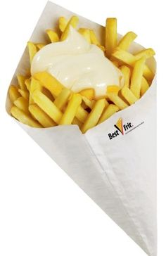 Fries.. Fries everywhere! Tarantino wasn't kind they put that shit (mayo) in everything!