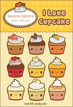 Kawaii+Cupcake+Sticker+Sheet+by+A-Little-Kitty.deviantart.com