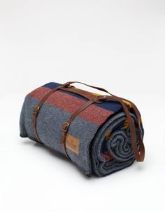 Grey Camp Blanket with Carrier from Pendleton Woolen Mills