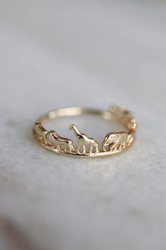 Animal Safari Ring Christmas Gift Elephant Giraffe Lion Rhino Ring Dainty Gold Animal Stacking Ring Sustainable Jewelry Xmas Gift for Her Dainty Jewelry, Cute Jewelry, Jewelry Rings, Jewelry Accessories, Jewellery, Dainty Gold Rings, Jewelry Ideas, Gold Rings Jewelry, Jewelry Tattoo