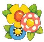 Flowers! Mary Englebreit Mary Engelbreit, Peace Pole, Pintura Country, Sketch Inspiration, Tole Painting, Scrapbooking, Hand Painted Ceramics, Rock Art, Diy Art