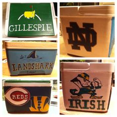 Painted cooler Painted Coolers, Cooler Painting, Paint Party, Creative Ideas, Crafting, Cool Stuff, Day, Inspiration, Biblical Inspiration