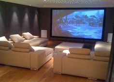 Home Cinema Seating. corner couches.