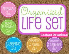 INSTANT DOWNLOAD Organized Life Printables by HappyOrganizedLife