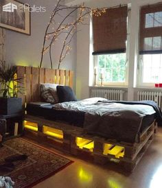 62 Creative Recycled Pallet Beds in Which You'll Never Want to Wake up DIY Pallet Bedroom - Pallet Bed Frames & Pallet Headboards