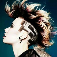 We love lotus undercut designs. Want more undercut hairstyles for women? Discover more badass undercuts here. Undercut Designs, Girl Undercut Design, Undercut Hairstyles, Cool Hairstyles, Female Hairstyles, Hairstyles 2016, Fringe Hairstyles, Updo Hairstyle, Wedding Hairstyles