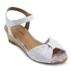 383e1aa30ddb Girl s Cherokee® Gwen Wedge Sandals - White