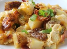 Loaded Baked Potato And Chicken Casserole Recipe