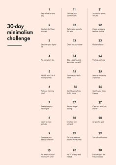 30-Day Minimalism Challenge - if you want to live a simpler, more intentional life with less stuff and more time for the people and things you love, try this little challenge !